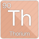 actinide, atom, atomic, periodic, periodic table, radioactive, thorium icon