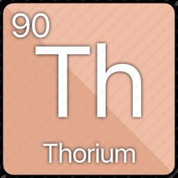 actinide, atom, atomic, periodic, periodic table, radioactive, thorium icon