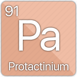 actinide, atom, atomic, element, periodic, periodic table, protactinium icon
