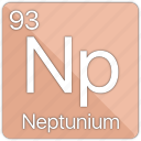 atom, atomic, element, neptunium, periodic, periodic table icon