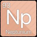 neptunium, atom, atomic, element, periodic, periodic table icon