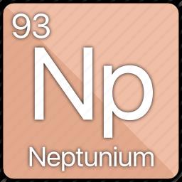 atom, atomic, element, neptunium, periodic, periodic table icon