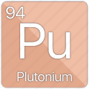 atomic, element, energy, nuclear, periodic table, plutonium, radioactive icon