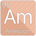 americium, atom, atomic, element, periodic, periodic table icon