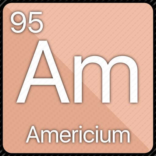 americium, atom, atomic, element, periodic, periodic table icon