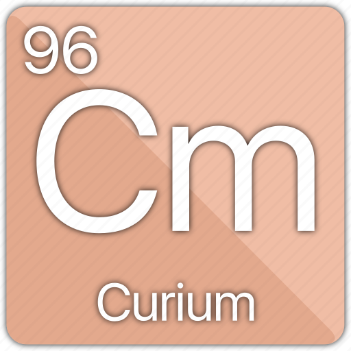 atom, atomic, curium, element, periodic, periodic table icon