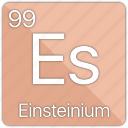atom, atomic, einstein, einsteinium, element, periodic, periodic table icon