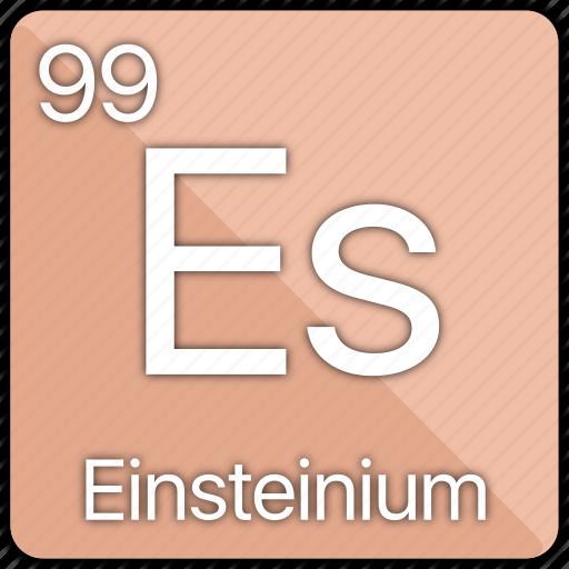 atom, atomic, einstein, einsteinium, element, periodic, periodic table icon