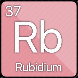 alkali, atomic, element, metal, periodic table, rubidium icon