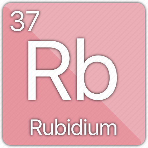 Alkali Atomic Element Metal Periodic Table Rubidium Icon