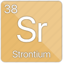 alkaline, atomic, element, metal, periodic table, radioactive, strontium icon