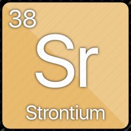 alkaline, atomic, element, metal, periodic table, radioactive, strontium icon