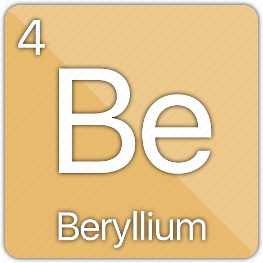 alkaline, atomic, beryllium, element, metal, periodic table icon