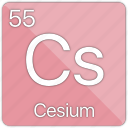 alkali, atomic, cesium, element, metal, periodic table, radioactive icon
