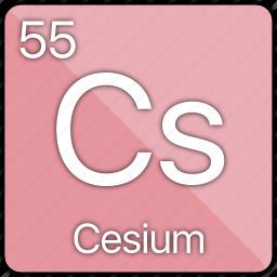 alkali, atomic, cesium, element, metal, periodic table, radioactive icon