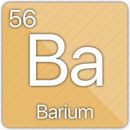 alkaline, atomic, barium, element, metal, periodic table icon