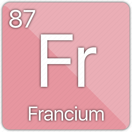 alkali, atomic, element, francium, metal, periodic table icon