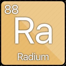 alkaline, atomic, element, metal, periodic table, radium icon