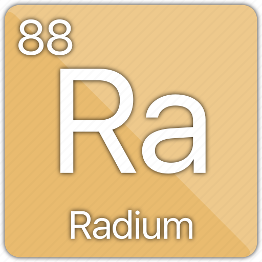 Alkaline Atomic Element Metal Periodic Table Radium Icon