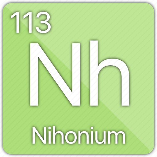atom, atomic, basic-metal, element, nihonium, periodic table icon