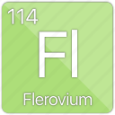 atom, atomic, basic-metal, element, flerovium, periodic table icon