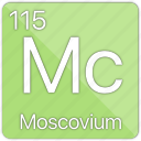 atom, atomic, basic-metal, element, moscovium, periodic table icon