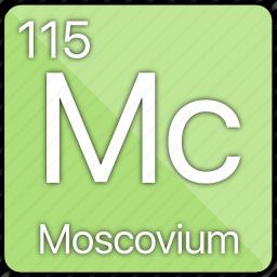 atom, atomic, basic-metal, element, moscovium, periodic table icon