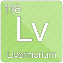 atom, atomic, basic-metal, element, livermorium, periodic table icon