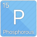 atom, atomic, element, gas, non-metal, periodic table, phosphorous icon