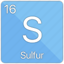 atom, atomic, element, non-metal, periodic table, sulfur icon