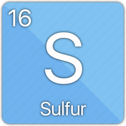 atom, atomic, element, non-metal, periodic table, sulfur icon