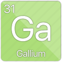 atom, atomic, basic-metal, element, gallium, periodic table icon