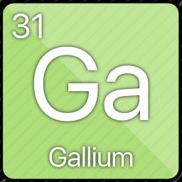 atom, atomic, basic-metal, element, gallium, periodic table icon