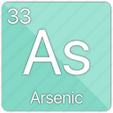 arsenic, atom, atomic, element, metal, periodic table, semi-metal icon
