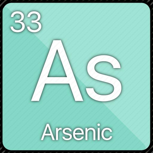arsenic, atom, atomic, element, metal, periodic table, semi-metal icon