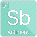 antimony, atom, atomic, element, metal, periodic table, semi-metal icon