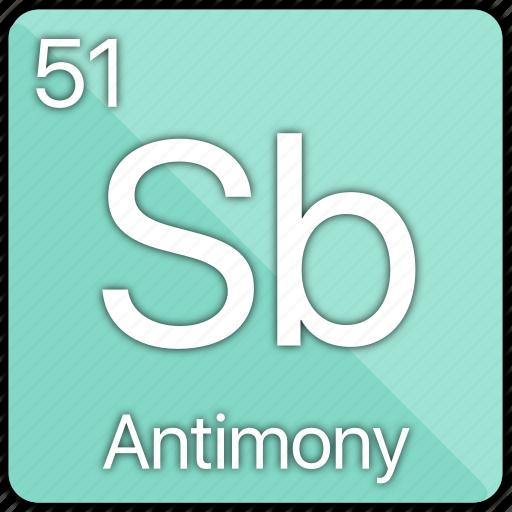 antimony, atom, atomic, element, metal, periodic table, semi-metal icon