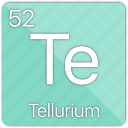 atom, atomic, element, metal, periodic table, semi-metal, tellurium icon