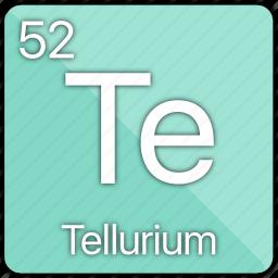 atom, atomic, element, metal, periodic table, semi-metal, tellurium icon