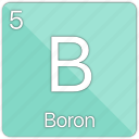atom, atomic, boron, element, metal, semi-metal icon