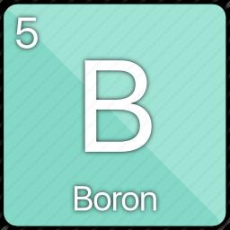 atom, atomic, boron, element, metal, semi-metal icon