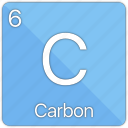 atom, atomic, carbon, element, non-metal, periodic table icon