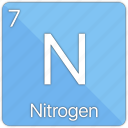 atom, atomic, element, nitrogen, non-metal, periodic table icon