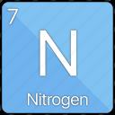 nitrogen, atom, atomic, element, non-metal, periodic table icon