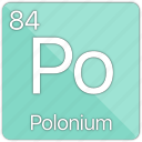 atom, atomic, element, metal, periodic table, polonium, semi-metal icon