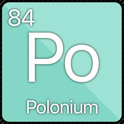 atom, atomic, element, metal, periodic table, polonium, semi-metal icon