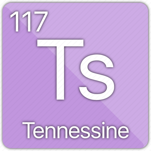 atomic, element, elements, periodic, periodic table, tennessee, tennessine icon
