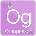 atomic, element, gas, nobel, orangesson, periodic table icon