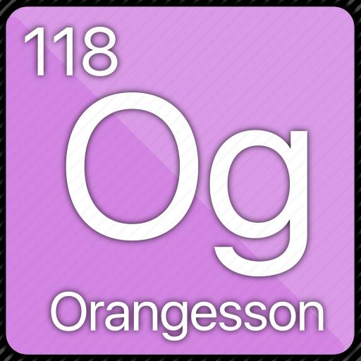 atomic, element, gas, nobel, orangesson, periodic table icon