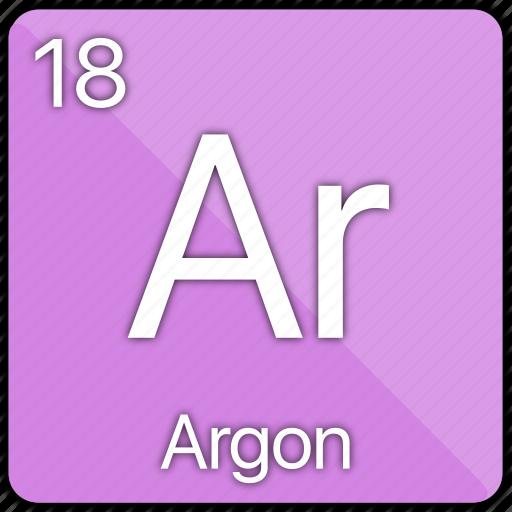 argon, atomic, element, gas, nobel, periodic table icon